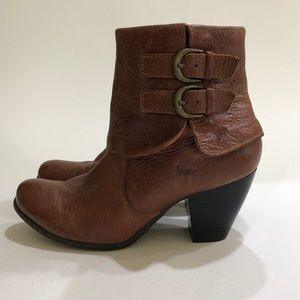 B.O.C. by Born Cuffed Leather Ankle Booties Boots